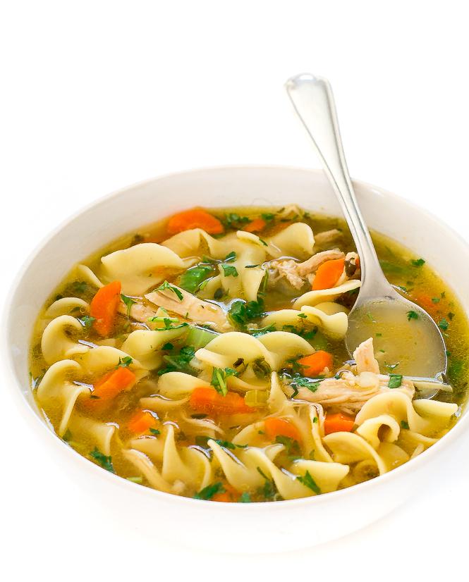 Chicken Noodle Soup Instant Pot | chefsavvy.com