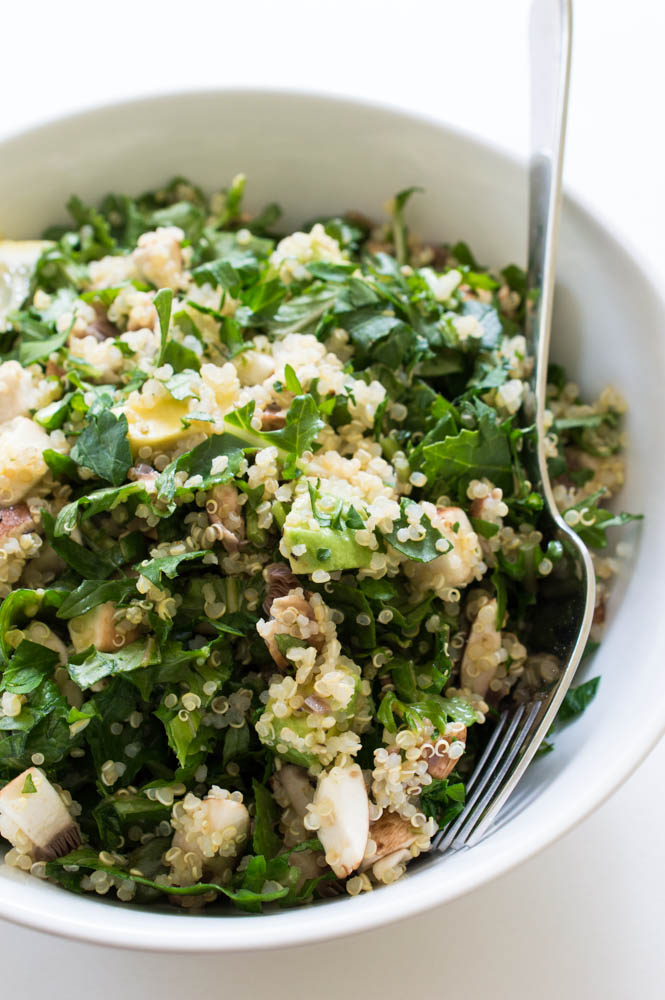 Chopped kale quinoa and avocado salad forumfinder Images