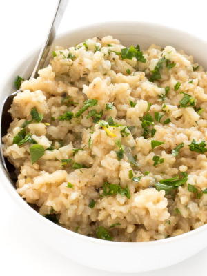 How To Make Lemon Parmesan Brown Rice | chefsavvy.com