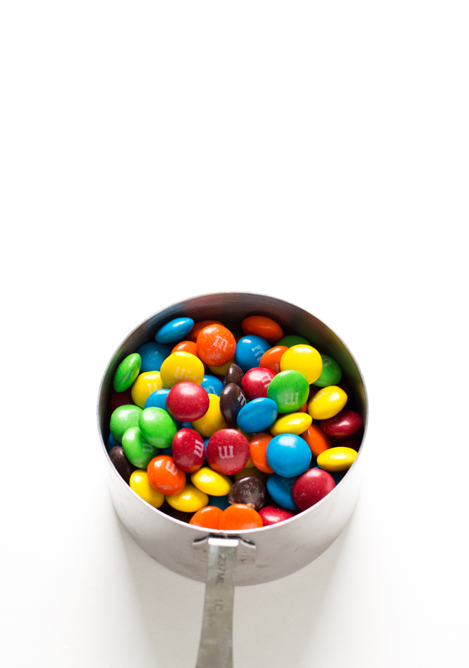 M and M's for cookies