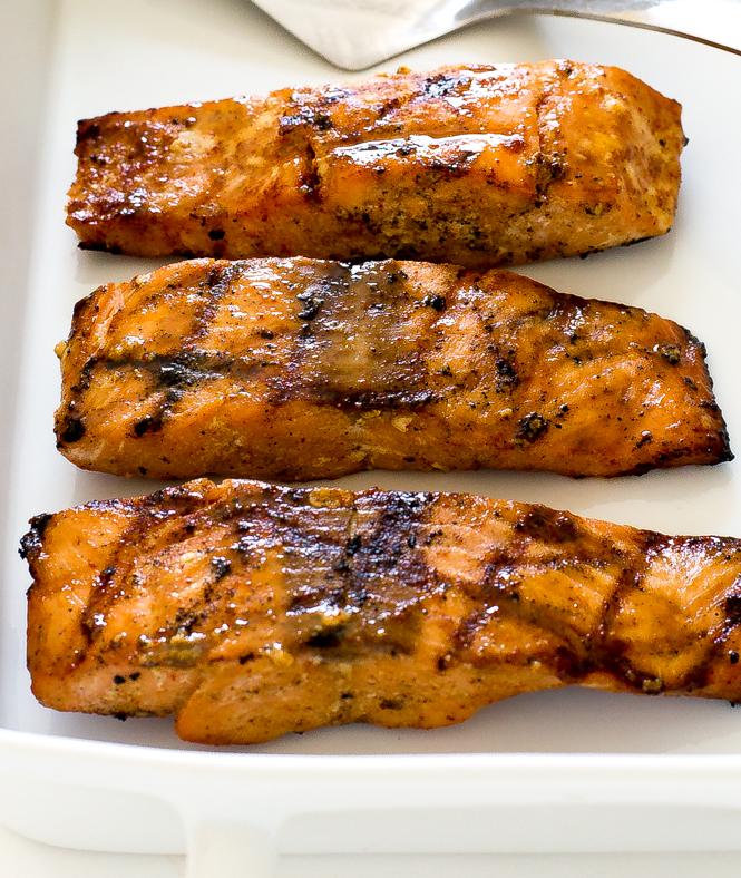 Easy Grilled Maple Dijon Salmon | chefsavvy.com