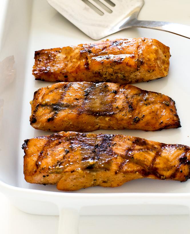 Grilled Maple Dijon Salmon
