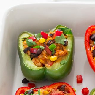 Chipotle Chicken Stuffed Peppers