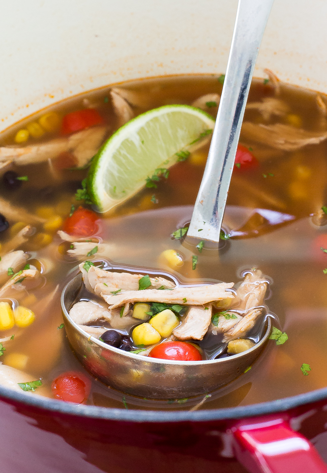 Mexican Tortilla Turkey Soup