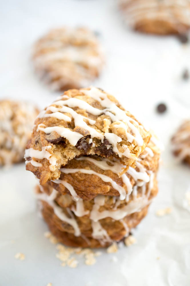 Super Chewy Oatmeal Chocolate Chip Cookies   chefsavvy.com #recipe #dessert #chocolate #oatmeal #cookie