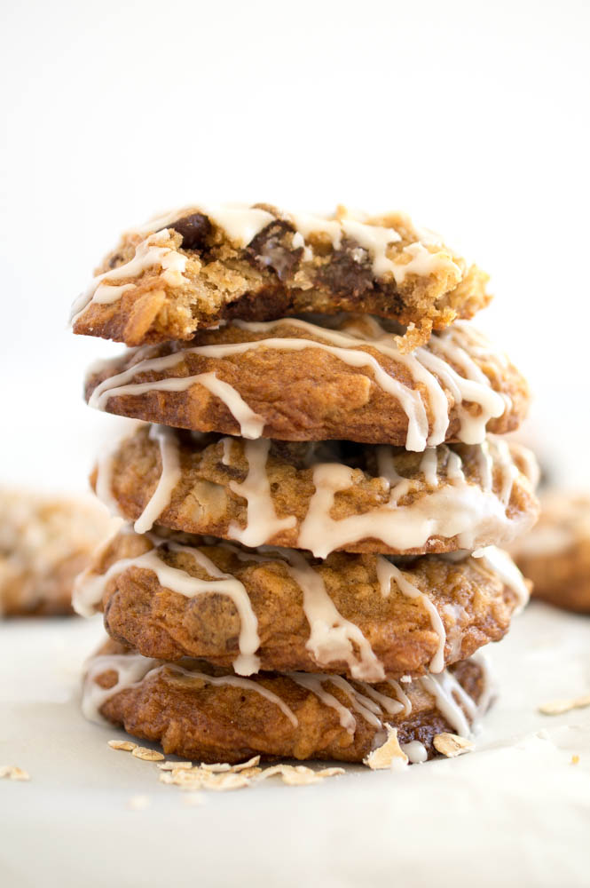 Oatmeal Chocolate Chip Cookies. Loaded with semi-sweet chocolate chips ...