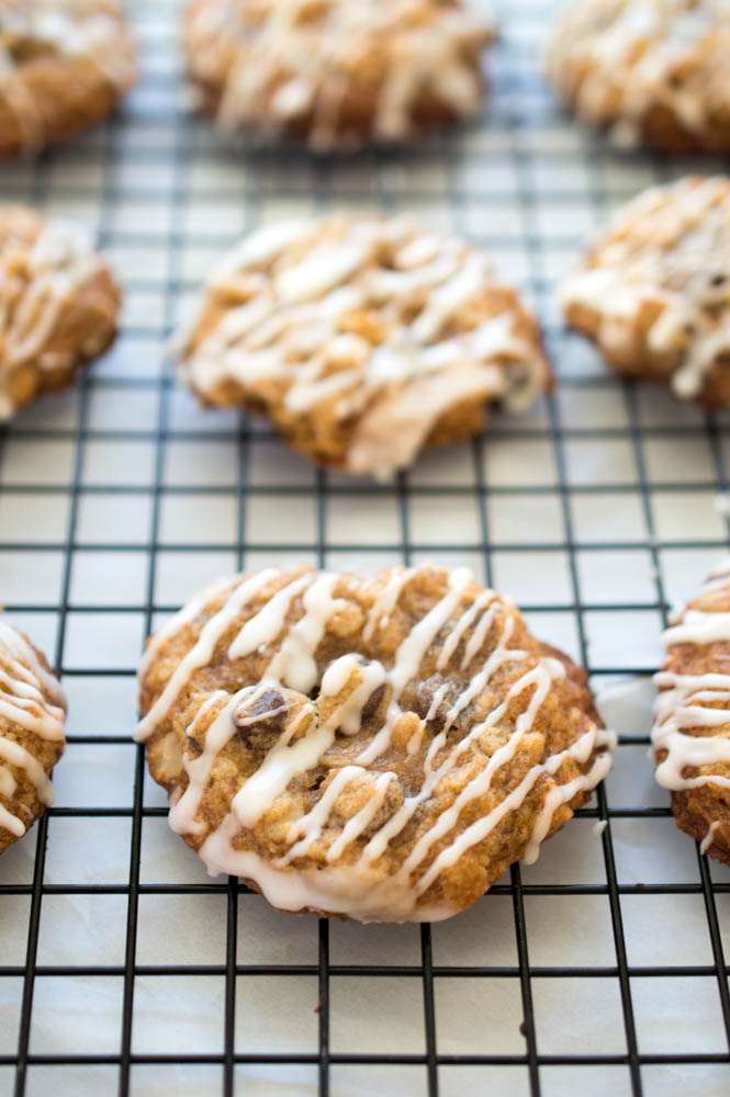 Chewy Oatmeal Chocolate Chip Cookies   chefsavvy.com #recipe #dessert #chocolate #oatmeal #cookie
