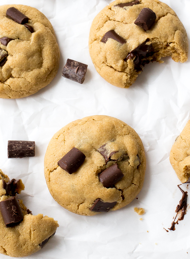 ... chunks! These Peanut Butter Chocolate Chunk Cookies are soft and chewy