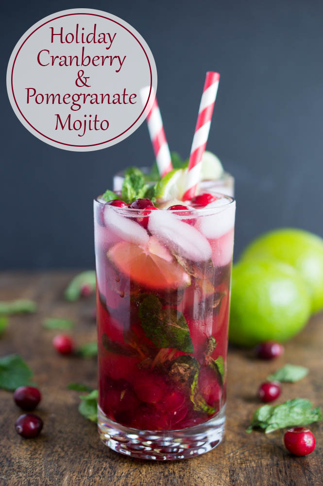 Holiday Cranberry Pomegranate Mojito Recipe