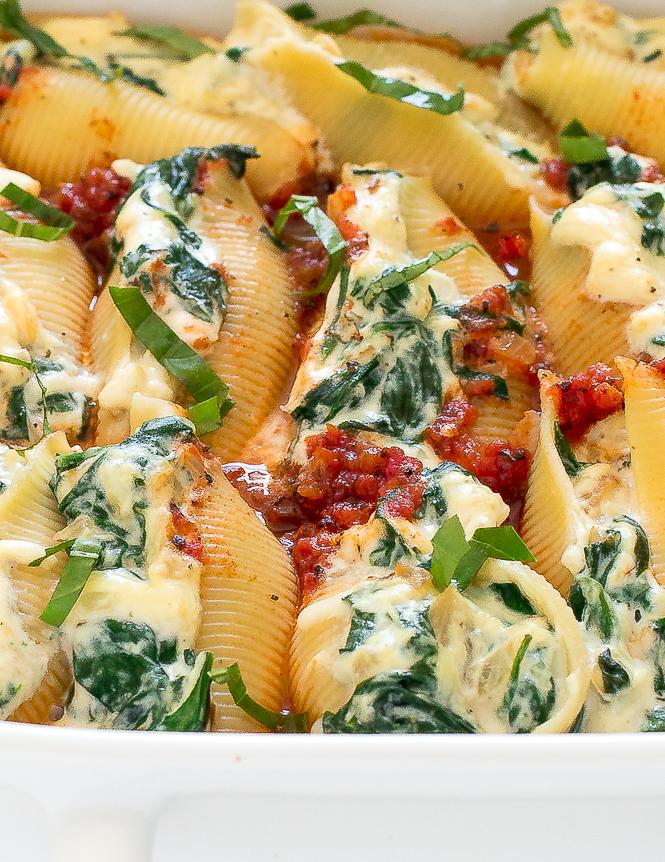 Ricotta Stuffed Shells | chefsavvy.com