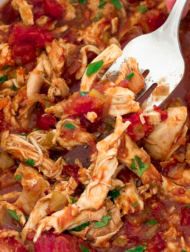Slow Cooker Mexican Shredded Chicken | chefsavvy.com