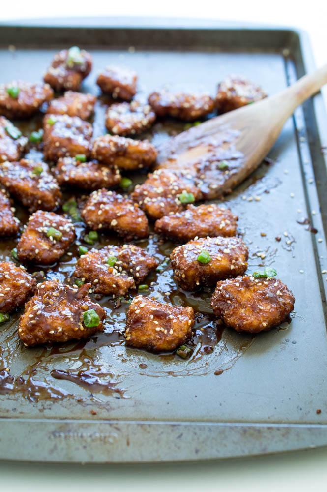 Super Sticky Asian Chicken Bites   chefsavvy.com #recipe #sticky #asian #chicken #bites