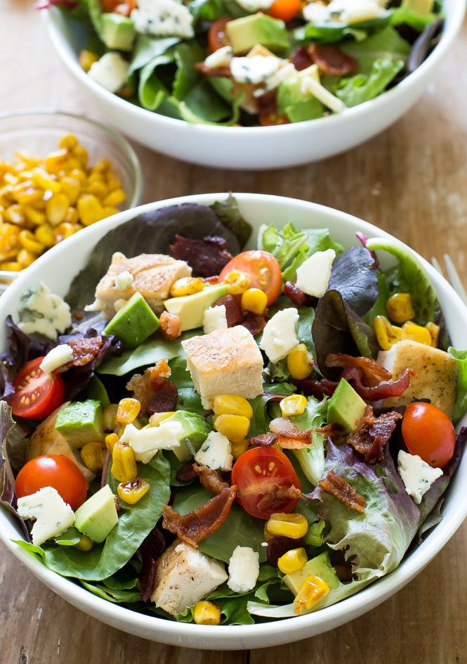 Summer Grilled Chicken Cobb Salad