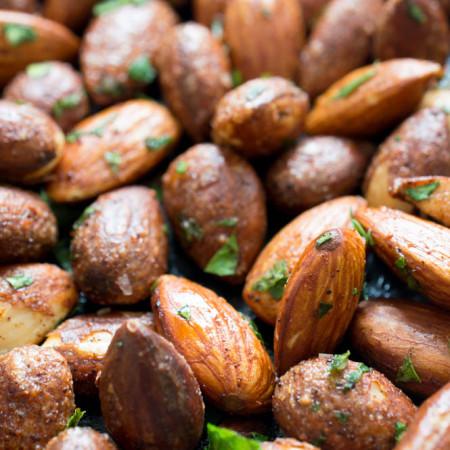 5 Minute Spicy Chili Almonds