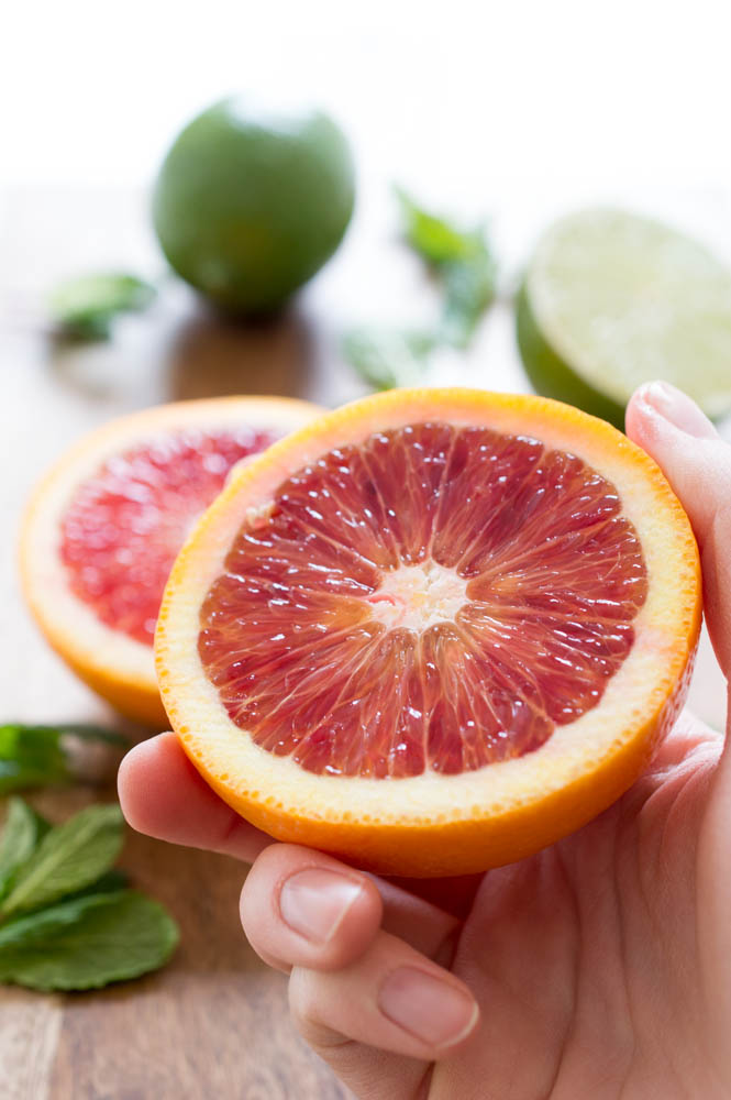 Blood Orange Mojito | chefsavvy.com #recipe #drink #grapefruit #mojito