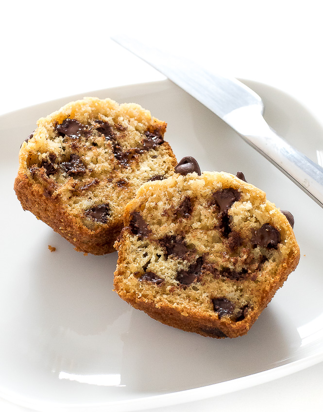 Super Easy Chocolate Chip Muffin   chefsavvy.com