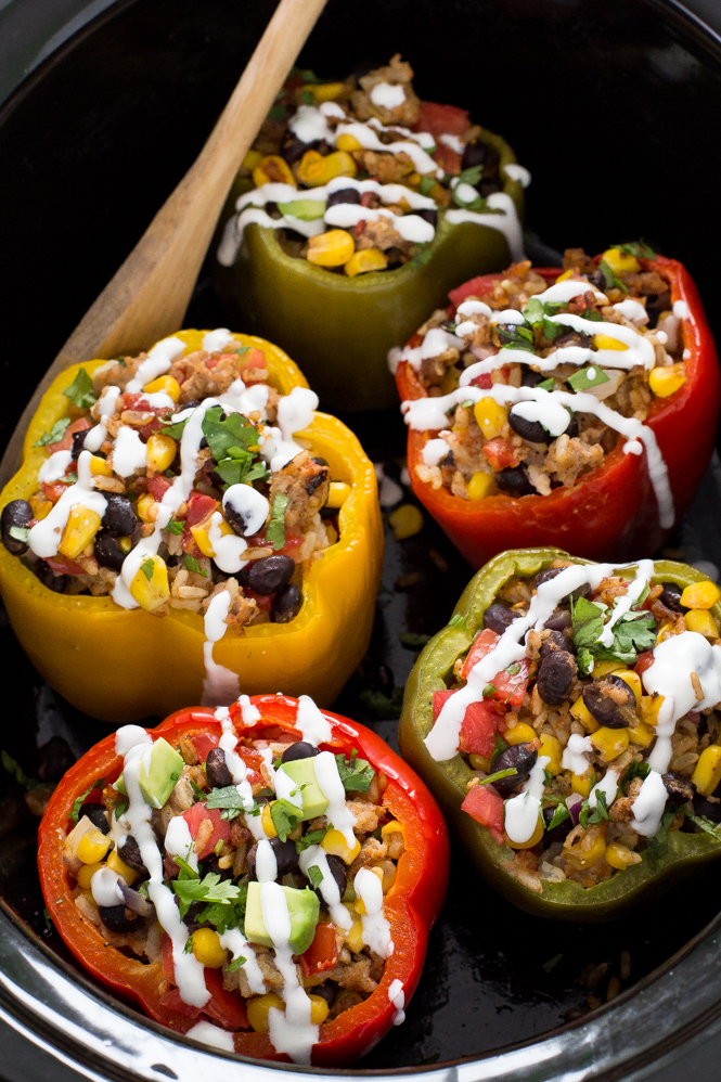 super-easy-slow-cooker-stuffed-peppers