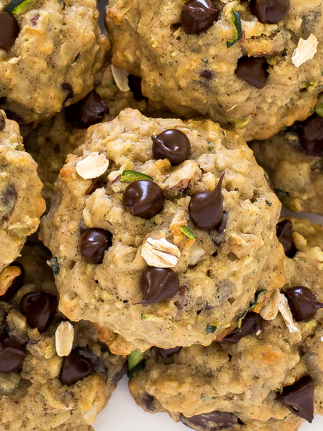 Zucchini Chocolate Chip Cookies | chefsavvy.com