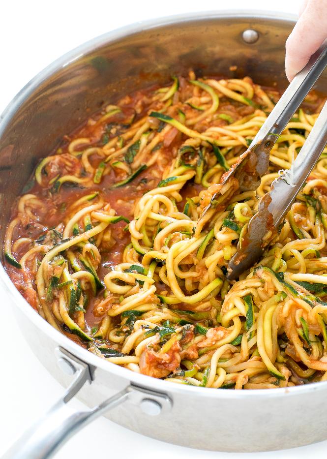 Zucchini Pasta With Tomato Sauce Chef Savvy Chef Savvy